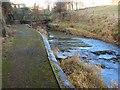 NO5603 : Footbridge over the Dreel by James Allan