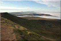 SO0121 : View to the west from Pen y Fan by Philip Halling