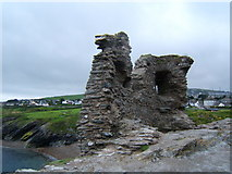 T3294 : Ruins of Black Castle, Wicklow Harbour by Chris Tomlinson