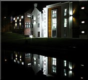 J5081 : Bangor Library at night by Rossographer