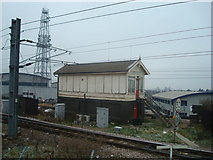 TQ2182 : Willesden Junction High Level Signal Box by Stacey Harris