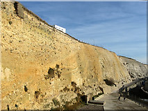 TQ3303 : Cliffs at Black Rock by Simon Carey