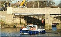 J3371 : River Lagan works, Belfast (3) by Albert Bridge