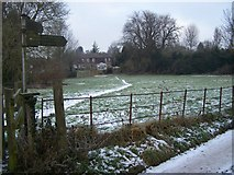 TQ6668 : Footpath junction near Cobham by David Anstiss