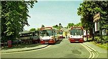 J2664 : Substitute buses, Lisburn station by Albert Bridge