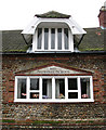 TG1236 : Baconsthorpe Village Hall - detail by Evelyn Simak