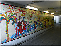 TL4658 : Mural, Elizabeth Way underpass by Keith Edkins