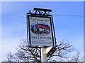 TM2954 : The Greyhound Inn Sign, Pettistree by Adrian Cable