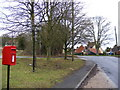 TM1850 : Witnesham Village Sign & Post Office, High Street, Postbox by Adrian Cable
