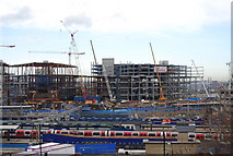 TQ3884 : A new shopping Centre being built by Stratford Station (2) by N Chadwick
