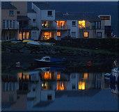 SH5638 : Porthmadog Harbour lights by Ian Dalgliesh