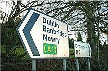 J2153 : Road signs, Dromore by Albert Bridge