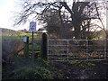 NZ2647 : Public footpath to Viewly Grange by Freethinker