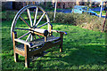 SK5635 : Bench with a coach-wheel back by David Lally