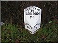 TM2245 : Milepost at Kesgrave by Geographer