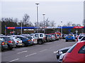 TM2445 : Tesco Extra Petrol Filling Station by Geographer