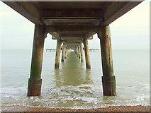 TR3752 : Deal pier; the underside by Ian Dalgliesh