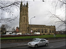 SJ9498 : Ashton-under-Lyne Parish Church by Peter Whatley