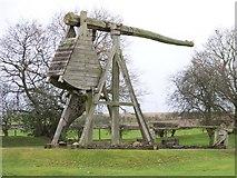 NY0265 : Caerlaverock Castle - replica trebuchet by Elliott Simpson