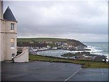 NW9954 : Portpatrick harbour from the hotel car-park by Elliott Simpson