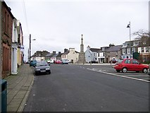NX4355 : Wigtown Market Square and Market Cross by Elliott Simpson