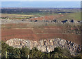 SP5196 : 3 stages of geological development at Croft Quarry. by Alan Murray-Rust