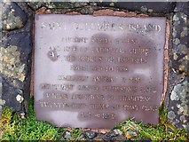 NG4148 : Plaque by the path to St Columba's Island by Richard Dorrell