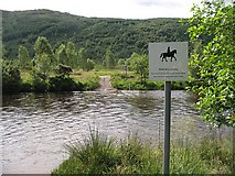 NM8363 : Ford, Strontian River by Richard Webb