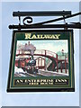 TM1844 : The Railway Pub Sign by Keith Evans