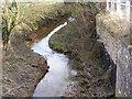 TM4287 : Stream next to Church Lane, Weston by Adrian Cable