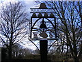 TM4382 : Brampton Village Sign by Adrian Cable