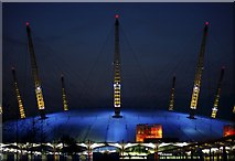 TQ3980 : Millennium Dome at night by Stuart Vickers
