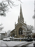 TQ4077 : St John's church in the snow by Stephen Craven