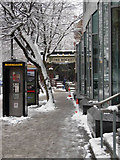TQ2982 : Euston Road in the snow by Stephen McKay