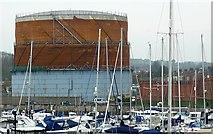SY6778 : Weymouth Gasometer by Nigel Mykura