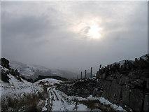 SH6337 : Track from Llyn Tecwyn by Peter Humphreys