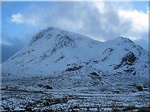 NN2256 : Buachaille Etive Mor and Stob Dearg from Altnafeadh by Johnny Durnan