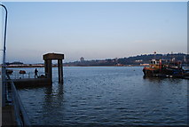 TQ7568 : River Medway from Ship Pier, Chatham by N Chadwick
