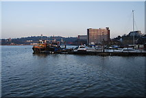 TQ7568 : Working waterfront, River Medway, Chatham by N Chadwick