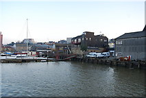 TQ7568 : Working waterfront, River Medway, Chatham (2) by N Chadwick