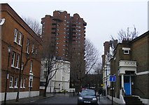 TQ2677 : Tower Block Worlds End Estate by PAUL FARMER