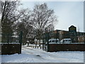 SP0077 : Rednall Hill school entrance by Jonathan Billinger