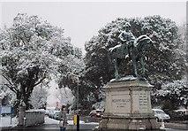 SX9193 : Sir Redvers Buller in the snow by Derek Harper