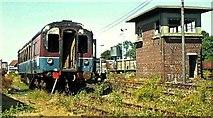 J1586 : Withdrawn rolling stock, Antrim station (2) by Albert Bridge
