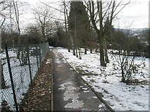 SU9849 : Looking along the path from Guildford Cathedral Close to the steps to Cathedral Close by Basher Eyre