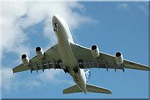 SJ3464 : Is it a bird no it's .....A380 by Graeme Walker