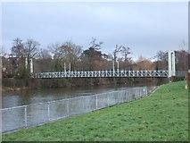SX9291 : Trew's Weir Suspension Bridge by David Smith
