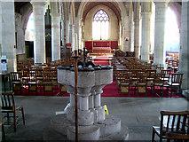 SO3958 : Font, St Mary's Church, Pembridge by Gordon Cragg