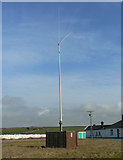 SS9168 : Comms mast, Nash Point lighthouse by Mick Lobb