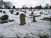 SU9948 : Overflow graveyard for Guildford Cemetery looking towards The Mount by Basher Eyre